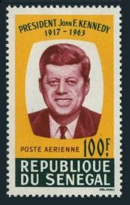 Senegal C40,C40a sheet,MNH.Michel 295,Bl.2. President John F.Kennedy,1964.