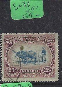 MALAYA KEDAH  (PP2807BB)    COW  25C  SG 33   VFU