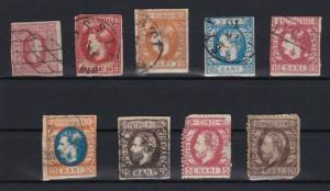 ROMANIA 1865 - 1872 STAMPS CAT £400+ SOME FAULTS    R3134