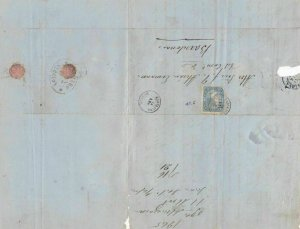 Spain 19th centuary stamps cover Ref 8339