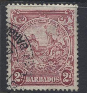 Barbados - Scott 195A - Seal of Colony -1941 - VFU -  Single - 2p Stamp