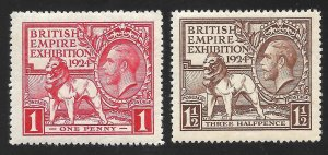 Doyle's_Stamps: MNH 1924 British Empire Expo Set, Scott #185** & #186**     (d3)