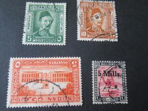 Sudan 1935 Sc 51,52,56,60 FU