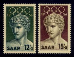 Saar Sc#  B109-10 MNH Summer Olympic Games 1956