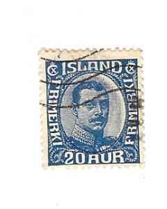 Iceland, 119, Christian X Single, Used
