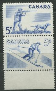 STAMP STATION PERTH Canada #367-368 Outdoor Recreation 1957 MNH Pair CV$1.00