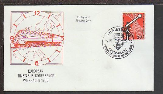 Germany 734 Train U/A FDC