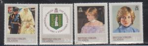 British Virgin Islands 430-3 Princess Diana Mint NH