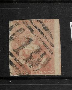 VICTORIA  1850-53  1d  DULL RED  QV IMPERF  FU  SG 8a
