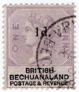 (I.B) British Bechuanaland Revenue : Duty Stamp 1d on 1d OP
