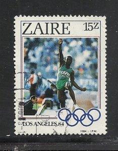 Zaire #1157 used cv $1.60 Olympics