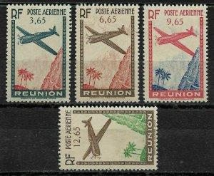 Reunion 1938, Air mail, Scott # C2-C5, VF Mint Hinged*OG