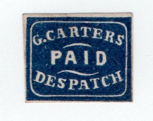 (I.B) US Local Post : Carter's Paid Despatch