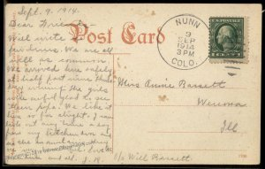 USA 1914 NUNN Weld Co Colorado Cover Argentine Central Railway 94223