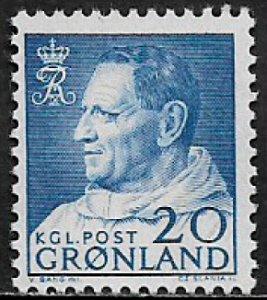 Greenland #53 MNH Stamp - King Frederick IX