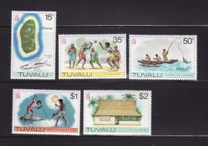 Tuvalu 30, 33-36 MNH Various (B)