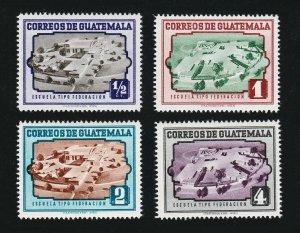 1951 GUATEMALA SCOTT #339-342 MODERN MODEL SCHOOLS MNH-OG