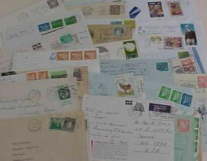 IRELAND  34 COVERS/FEW CARDS  PICTORIAL CANCELS 1951-2000's MOSTLY TO USA
