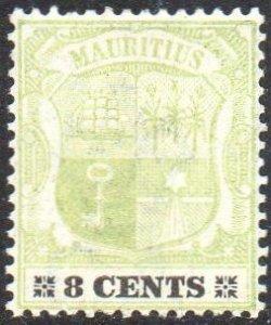 Mauritius 19028c  green  and black/buff MH