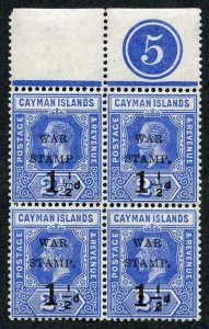 Cayman Is SG53 1.5d on 2.5d Type 14 Stamp with small stop after P U/M