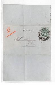 HH77 1904 GB Scotland Edinburgh OHMS Cover {samwells-covers}PTS