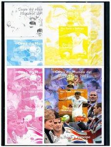 Sao Tome & Principe 2004 Rugby World Cup J.Wilkinson-Diana Color Proofs+original