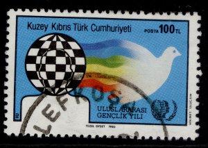 CYPRUS - Turkish Cypriot posts QEII SG179, 1985 100l dove & globe, FINE USED.