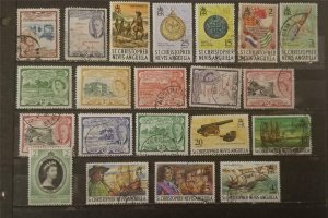 ST CHRISTOPHER Kitts Anguilla Stamp Lot Used G2227