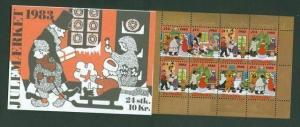 Denmark.  Booklet  1983  Christmas Seals Mnh. People,Shopping,Postman.Minister.