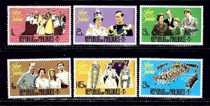 Maldive Is 662-67 MNH 1977 QEII Silver Jubilee    (ap2099)
