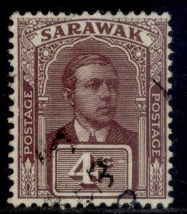 SARAWAK GV SG65, 4c brown-purple, FINE USED.