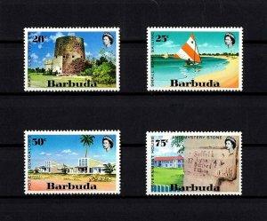 BARBUDA - 1971 - MARTELLO TOWER - SAILBOAT - HOTEL - TOURISM + MINT- MNH SET!