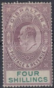 Gibraltar stamp Definitive (tooth fault) HInged 1904 Mi 54 y WS164636