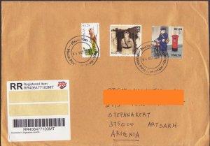 MALTA NICE REGISTERED LETTER TO NAGORNO KARABAKH ARTSAKH ARMENIA R18171