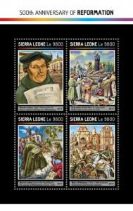 SIERRA LEONE 2017 SHEET REFORMATION MARTIN LUTHER srl17215a