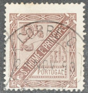 DYNAMITE Stamps: St. Thomas & Prince Islands Scott #P12 – USED