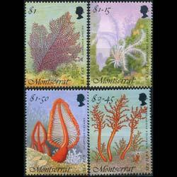 MONTSERRAT 1995 - Scott# 855-8 Sea Vegetations Set of 4 NH