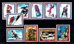 [72615] Paraguay 1972 Olympic Games Sapporo Ice Hockey Luge Skiing  MNH