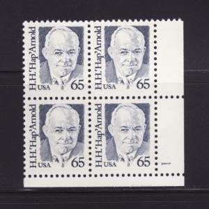 United States 2191 Plate Block MNH General Hap Arnold (B)