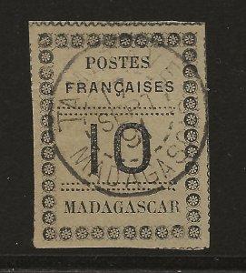 Madagascar 9 Yv 9 Used SOTN VF 1891 SCV $40.00+ (jr)