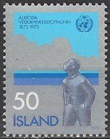 Iceland  460  MNH  WMO 100th Anniversary