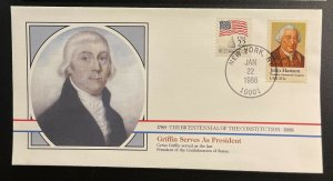 US #1941,2115 On Cover - Bicentennial of Constitution 1787-1987 [BIC49]