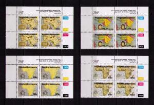 BOPHUTHATSWANA-RSA Sc# 295 - 298 MNH FVF 4xBlk4 African Maps