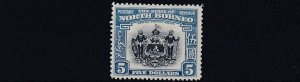 NORTH BORNEO  1939  S G 317     $5   INDIGO &  PALE BLUE      MH   CAT £850