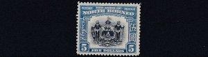 NORTH BORNEO  1939  S G 317     $5   INDIGO &  PALE BLUE      MH   CAT £850