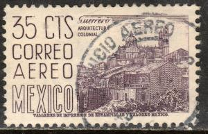 MEXICO C220C, 35cents 1950 Definitive 2nd Printing wmk 300. USED F-VF. (1152)