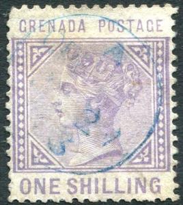 GRENADA-1883 1/- Pale Violet Sg 36 AVERAGE USED V24409