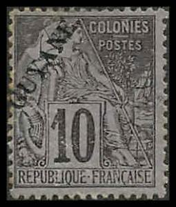 French Guiana 22 Used F NG 20 in ink on rev