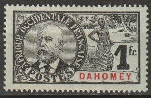 Dahomey 1906 Sc 29 MH* some disturbed gum