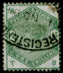 SG196, 1s dull green, FINE USED. Cat £325. TB